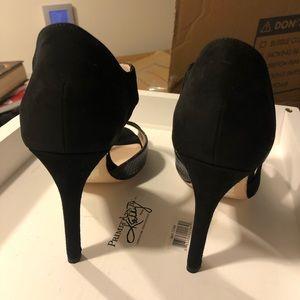 L.K. Bennett Shoes - L.K. Bennett Laura Asymmetric Suede Pump Black